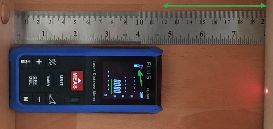 Лазерний далекомір з точкою відліку від початку